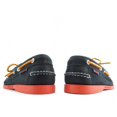 sebago chaussures bateau dockside nubDOCKSIDES SUEDE - NUBUCK - NAVY