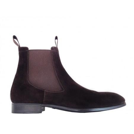 santoni Boots & bottillons siranoSIRANO - NUBUCK - CHOCOLAT