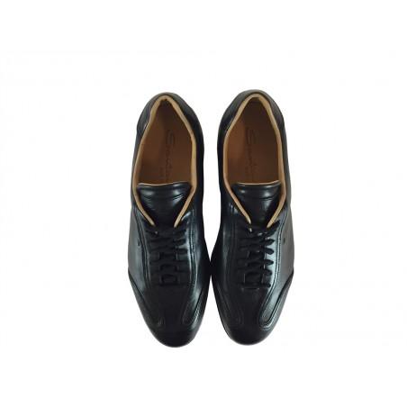 santoni Sneakers anversANVERS - CUIR - NOIR