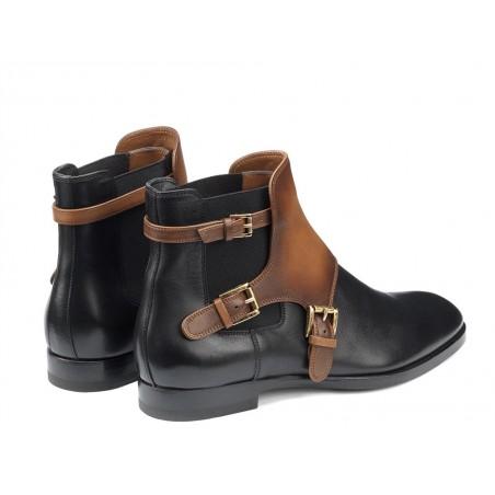 santoni Boots & low boots maboucleMABOUCLE - CUIR - NOIR ET GOLD