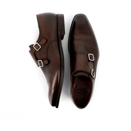 crockett & jones Chaussures à boucles seymour 3SEYMOUR 3 - CUIR ANTIQUE - DARK