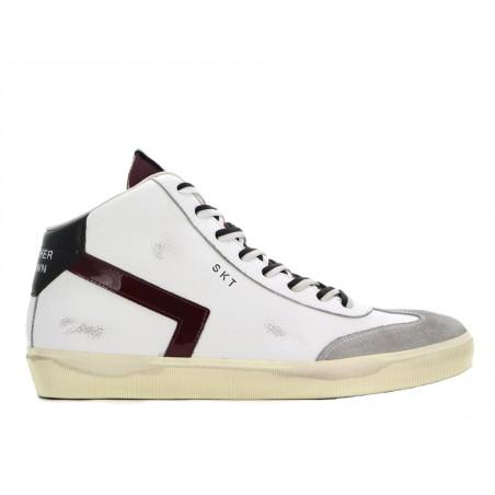 leather crown Sneakers lcm sneak hautLCM SNEAK HAUT - CUIR - BLANC ET