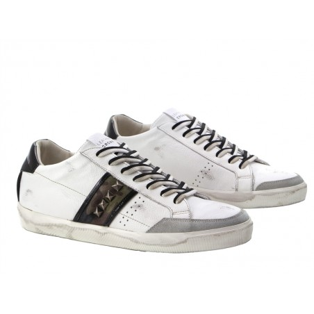 leather crown Sneakers lcm sneak basLCM SNEAK BAS - CUIR CLOUTÉ - BL