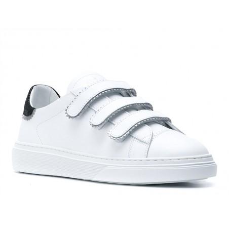 hogan Sneakers hog tima scratchHOG TIMA SCRATCH - CUIR - BLANC