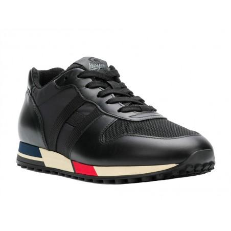 hogan Sneakers time 1986TIME 1986 - CUIR ET TOILE - NOIR