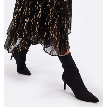 stuart weitzman Boots & low boots sw wren 75SW WREN 75 - NUBUCK - NOIR