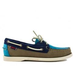 sebago chaussures bateau docksides suedeDOCKSIDES SUEDE - NUBUCK TRICOLO