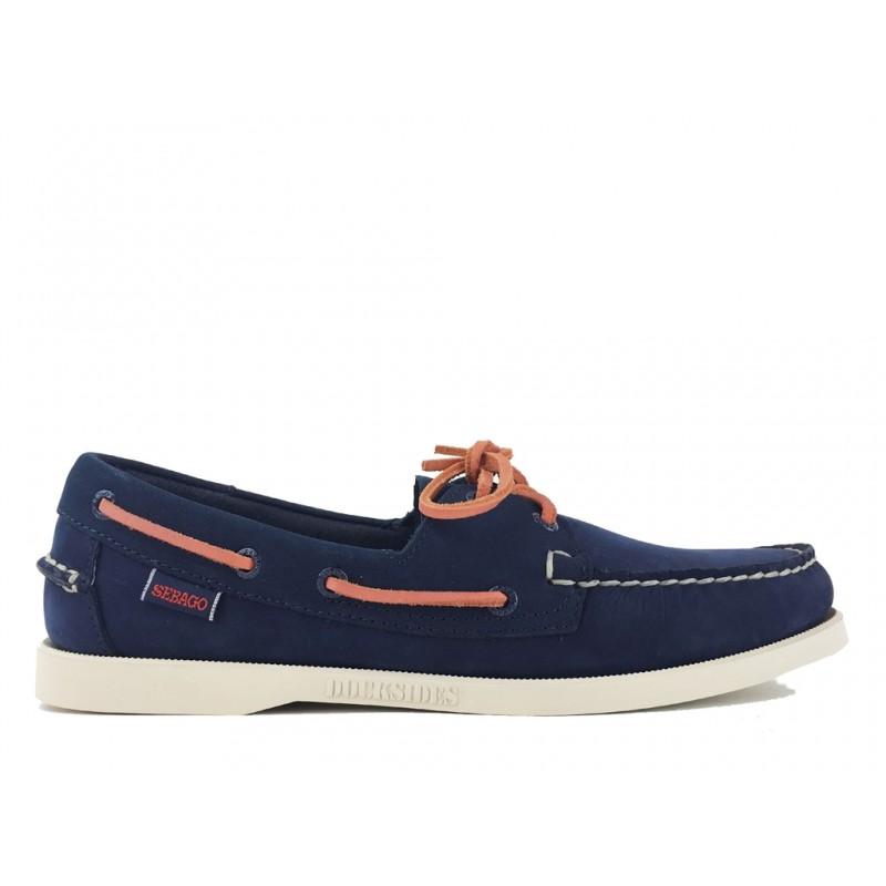 sebago nouveautés chaussures bateau docksides suedeDOCKSIDES SUEDE - NUBUCK - NAVY