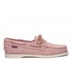 sebago nouveautés chaussures bateau docksides suedeDOCKSIDES SUEDE - NUBUCK - ROSE
