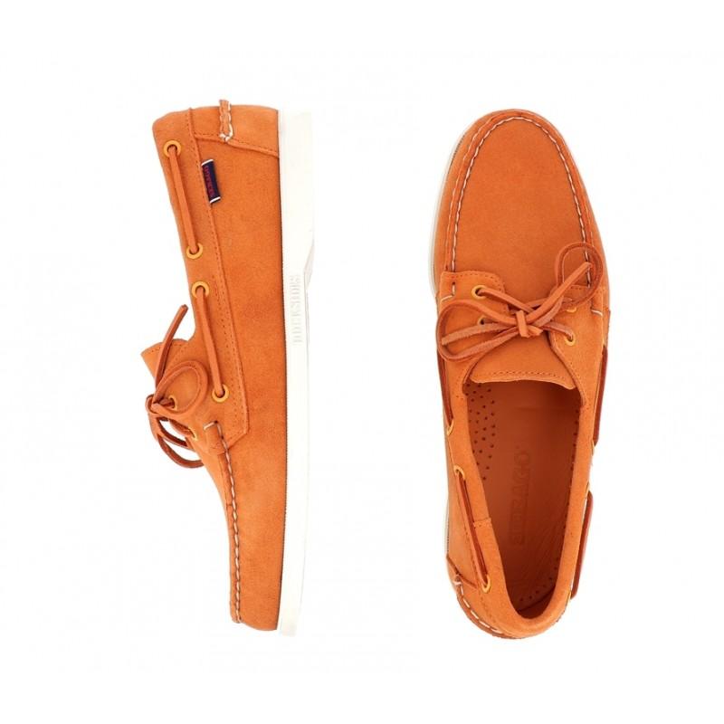 sebago nouveautés chaussures bateau docksides suedeDOCKSIDES SUEDE - NUBUCK - ORANG