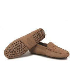 tod's mocassins & slippers Mocassins GomminoTODWOMEN - NUBUCK - TABAC