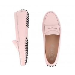 tod's mocassins & slippers Mocassins GomminoTODWOMEN - CUIR GRAINÉ - ROSE