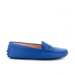 tod's mocassins & slippers Mocassins GomminoTODWOMEN - CUIR GRAINÉ - BLEU SA