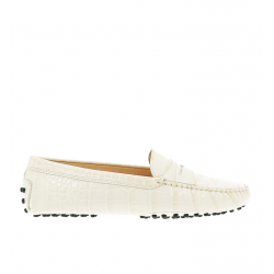 tod's mocassins & slippers Mocassins GomminoTODWOMEN - CUIR IMPRIMÉ CROCODIL