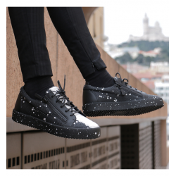 giuseppe zanotti nouveautés sneakers Sneakers FrankieGZ H FRANKIE - CUIR IMPRIMÉ LÉZA