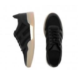 hogan nouveautés sneakers Sneakers H357HH H357 - CUIR ET TOILE - NOIR