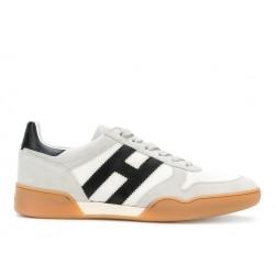 hogan nouveautés sneakers hh h357HH H357 - NUBUCK ET TOILE - BLAN