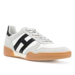 hogan nouveautés sneakers Sneakers H357HH H357 - NUBUCK ET TOILE - BLAN