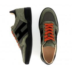 hogan nouveautés sneakers Sneakers H357HH H357 - NUBUCK ET TOILE - KAKI