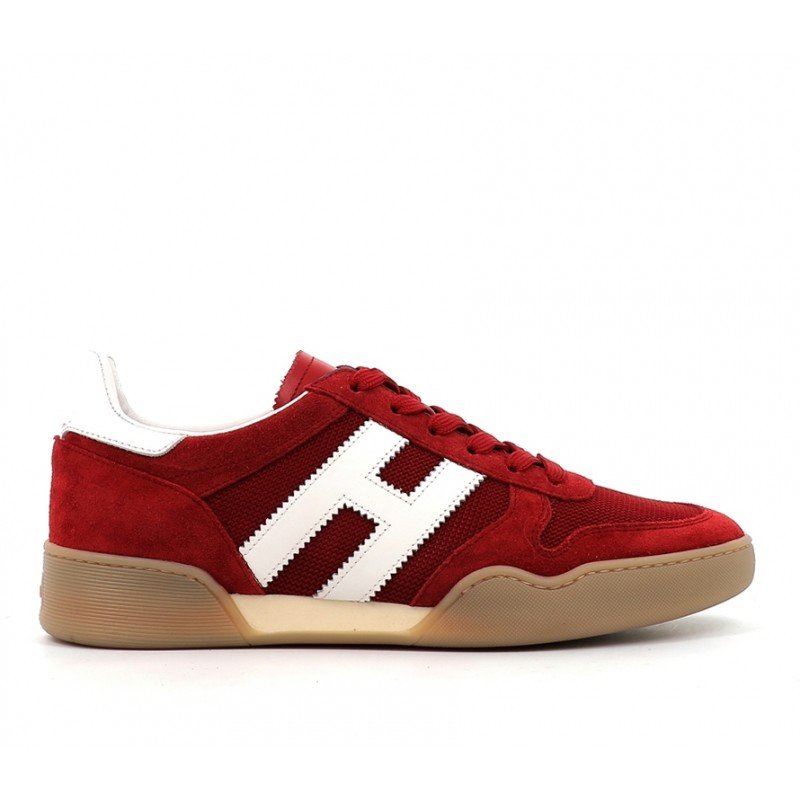 hogan nouveautés sneakers Sneakers H357HH H357 - NUBUCK ET TOILE - ROUG