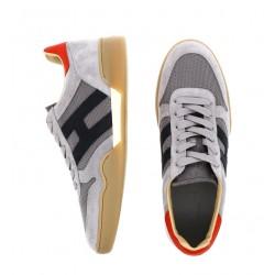 hogan nouveautés sneakers hh h357HH H357 - NUBUCK ET TOILE - GRIS