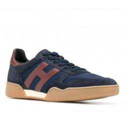 hogan nouveautés sneakers hh h357HH H357 - NUBUCK ET TOILE - MARI