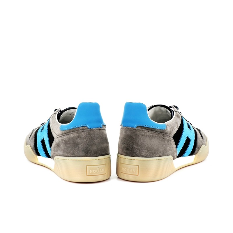 hogan nouveautés sneakers Sneakers H357HH H357 - NUBUCK ET TOILE - GRIS