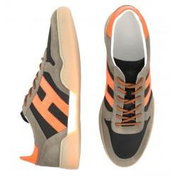 hogan nouveautés sneakers hh h357HH H357 - NUBUCK ET TOILE - TAUP