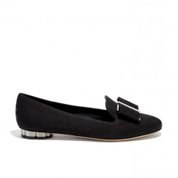salvatore ferragamo promotions mocassins SlippersSF SLIPPER NOEUD - TISSU IMPRIMÉ