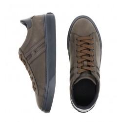 hogan nouveautés sneakers Sneakers H365HH H365 - NUBUCK - KAKI