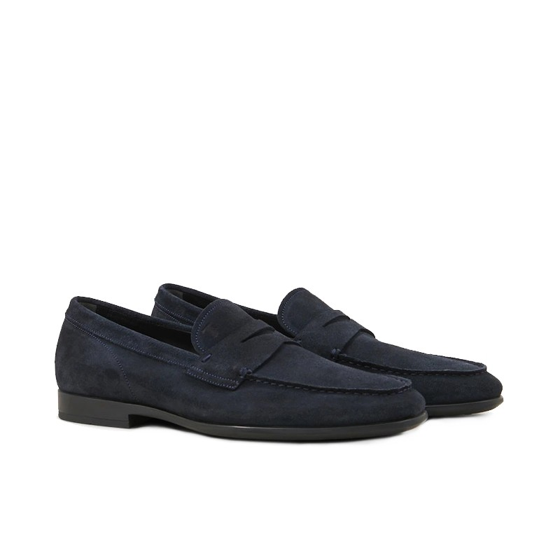 tod's mocassins et slippers MocassinsRIALTO 3 - NUBUCK - MARINE