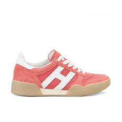 hogan nouveautés sneakers Sneakers H357HF H357 - NUBUCK ET TOILE - ROSE