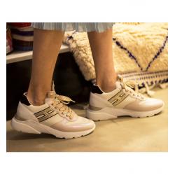 hogan nouveautés sneakers hf active oneHF ACTIVE ONE - CUIR ET TOILE -