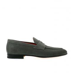 santoni mocassins et slippers MocassinsCARLOS 2 - NUBUCK - GRIS