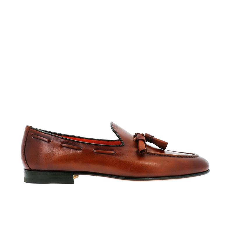 santoni mocassins et slippers Mocassins à pampillesCARLPO 2 - CUIR SOUPLE - GOLD