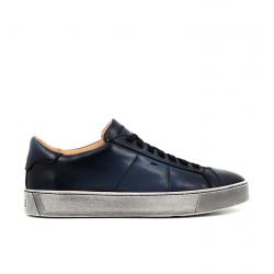 santoni nouveautés sneakers Sneakers GloriaNEW GLORIA 6 - CUIR PATINÉ - BLE