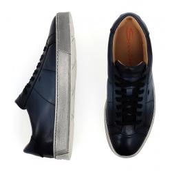 santoni nouveautés sneakers SneakersNEW GLORIA 6 - CUIR PATINÉ - BLE