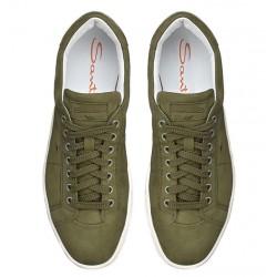 santoni nouveautés sneakers SneakersNEW GLORIA 6 - NUBUCK - KAKI