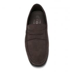 tod's mocassins et slippers MocassinsBROKEN T1 - NUBUCK - CHOCOLAT