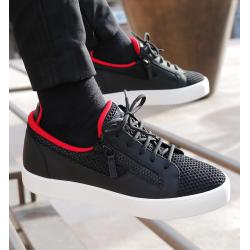 giuseppe zanotti nouveautés sneakers Sneakers FrankieGZ H FRANKIE (1) - CUIR GOMMÉ ET
