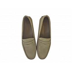 tod's mocassins et slippers Mocassins GomminoGOMMINI - NUBUCK - TAUPE(2)