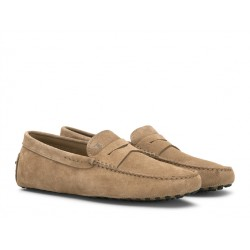 tod's mocassins et slippers Mocassins GomminoGOMMINI - NUBUCK - BISCUIT