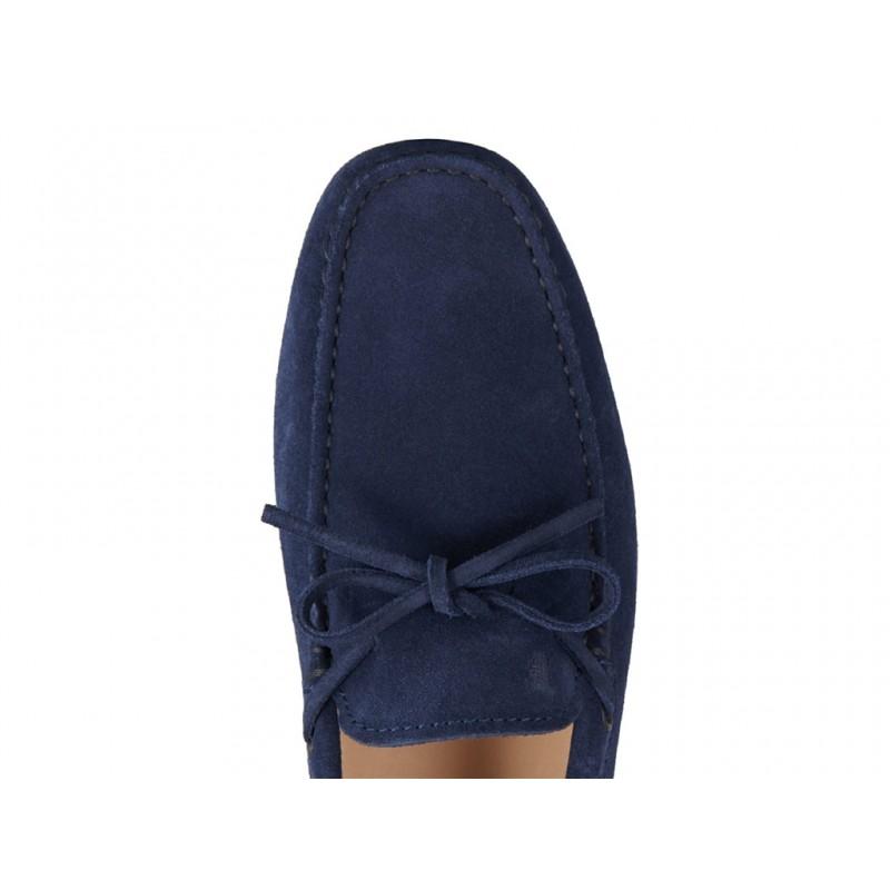 tod's mocassins et slippers Mocassins Gommino à LacetsTODNEU - NUBUCK - MARINE