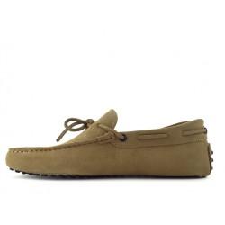 tod's mocassins et slippers Mocassins Gommino à LacetsTODNEU - NUBUCK - BEIGE (2)