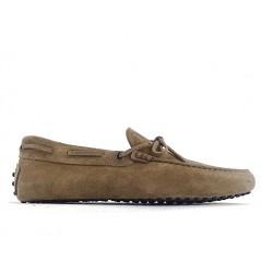 tod's mocassins et slippers Mocassins Gommino à LacetsTODNEU - NUBUCK - TAUPE (2)