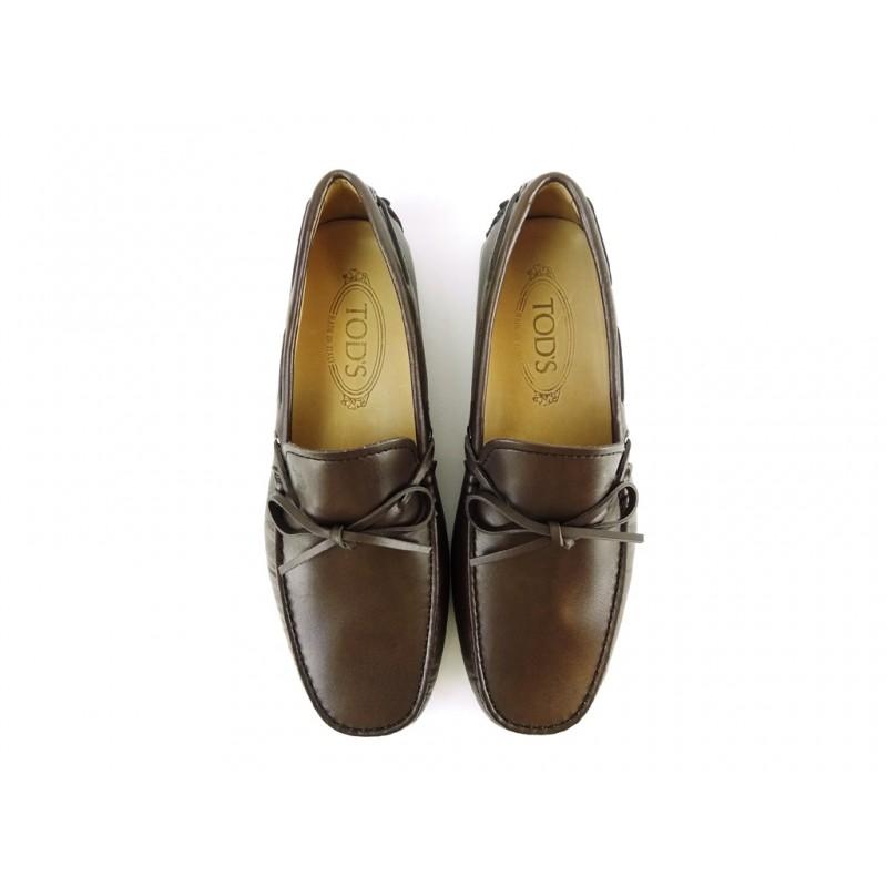 tod's mocassins et slippers Mocassins Gommino à LacetsTODNEU - CUIR - CHOCOLAT