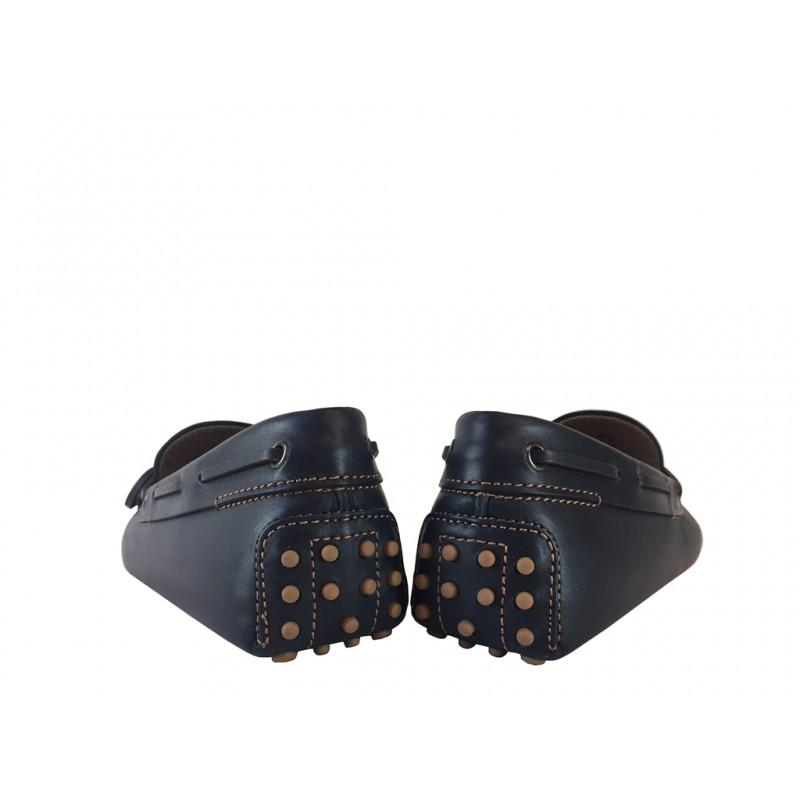 tod's mocassins et slippers Mocassins Gommino à LacetsTODNEU - CUIR - MARINE