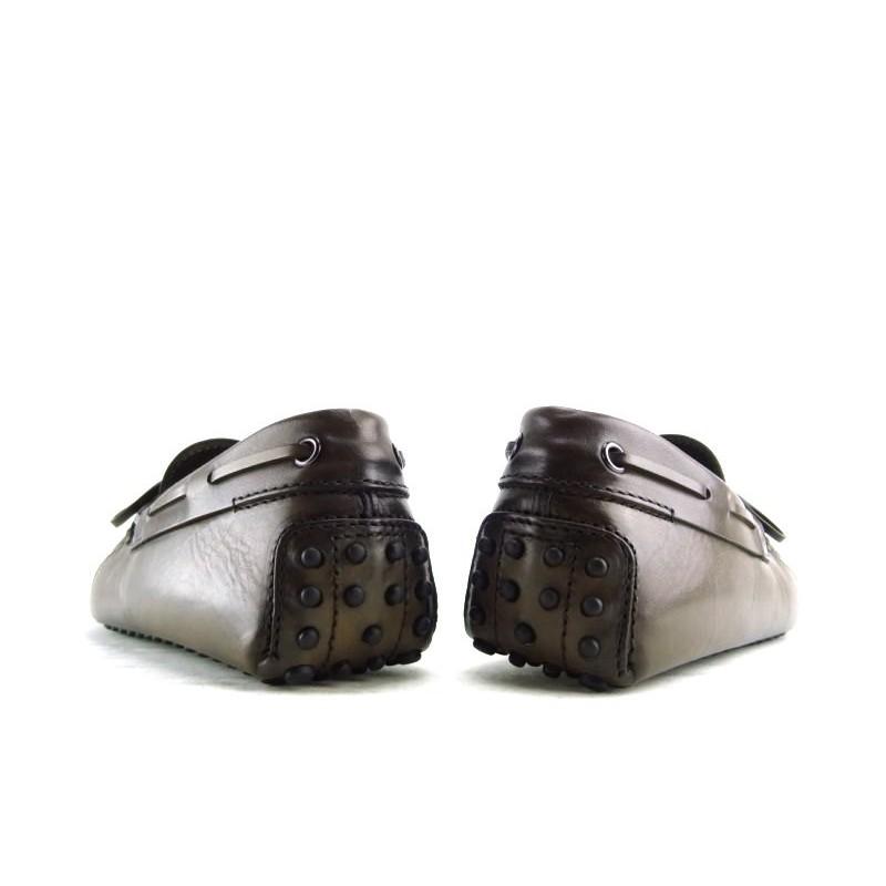 tod's mocassins et slippers Mocassins Gommino à LacetsTODNEU - CUIR PATINÉ - MARRON