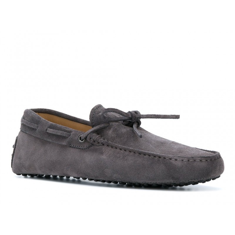 tod's mocassins et slippers Mocassins Gommino à LacetsTODNEU - NUBUCK - GRIS (3)
