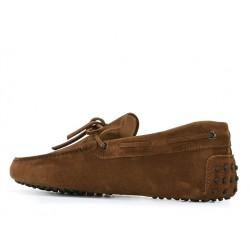 tod's mocassins et slippers Mocassins Gommino à LacetsTODNEU - NUBUCK - NOISETTE